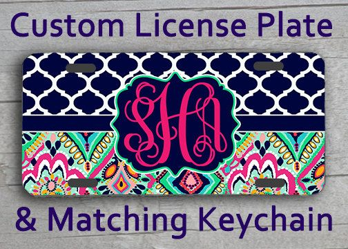 Custom Monogrammed personalized license plate. by AngelsMonograms