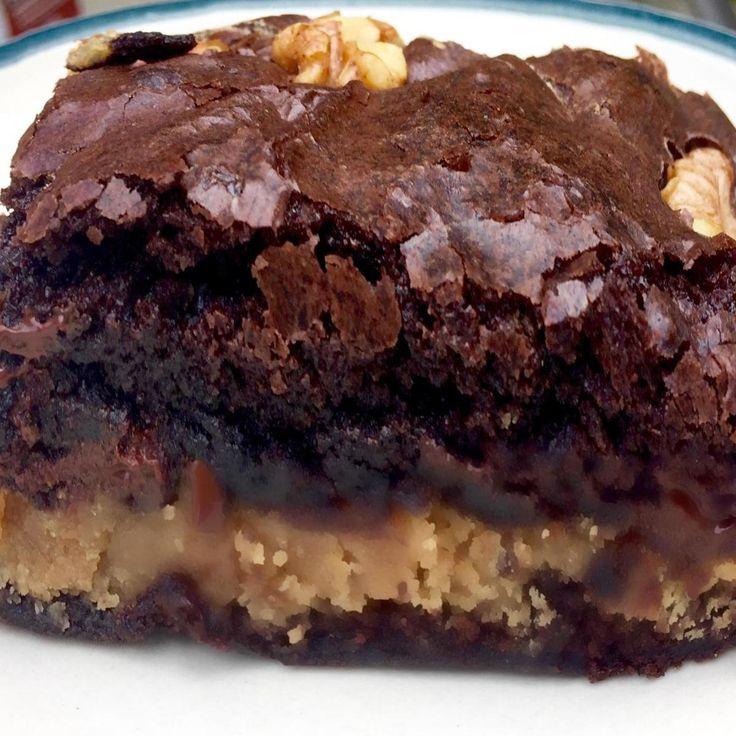 Peanut Butter Stuffed Brownies