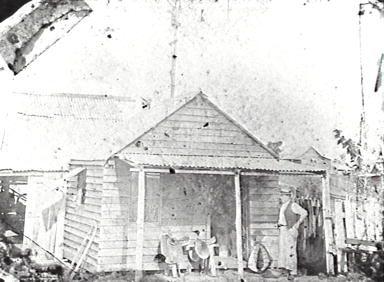 August Rick's saddlers shop, Logan Qld 1901