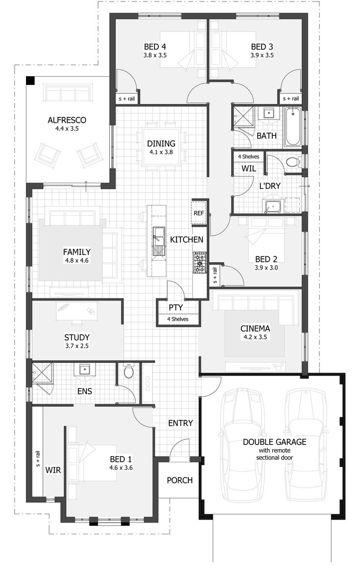 Best 25+ Narrow House Plans Ideas That You Will Like On Pinterest | Small  Open Floor House Plans, Small Home Plans And Shotgun House Part 43