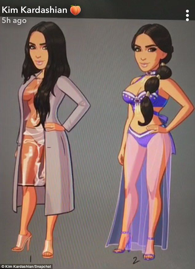 IRL: The reality star's emoji can now be accessed wearing revealing ensembles that she rocked in real life