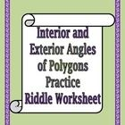 This is an 18 question practice worksheet that centers around the concept of the Interior and Exterior Angles of Polygons. It requires students to ...