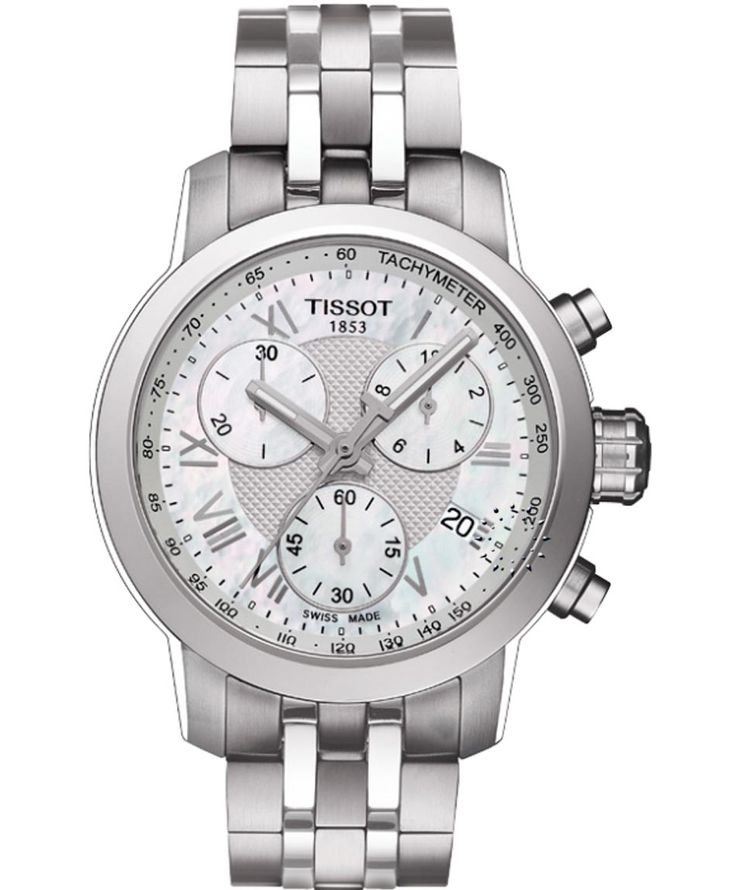 TISSOT Ladies PRC200 Chronograph Stainless Steel Bracelet Η τιμή μας: 382€ http://www.oroloi.gr/product_info.php?products_id=35376