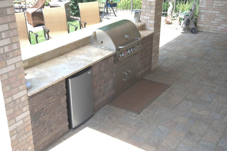 custom paver brick grill with stainless steel bull grill. Black Bedroom Furniture Sets. Home Design Ideas