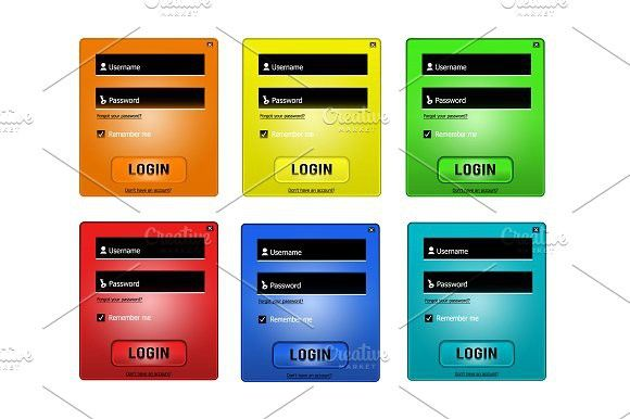 Vector login form #login #password