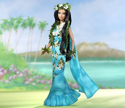 """Princess of the Pacific Islands Barbie! I own this! ♥ Though the description on back makes her """"Princess of the Hawaiian Islands""""... even more perfect for me. ♥"""