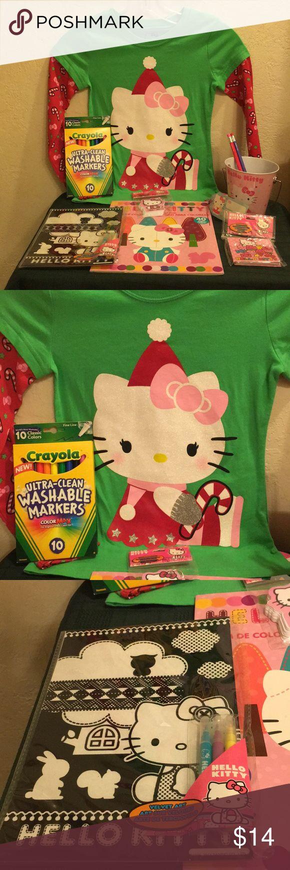 Hello Kitty 9Pc set Sz6xChristmas Shirt & More NEW NWT