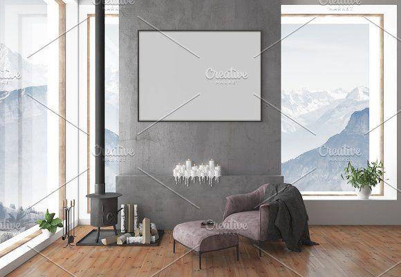 Blank Wall Mockup Interior Mockup By Hunny Badger On