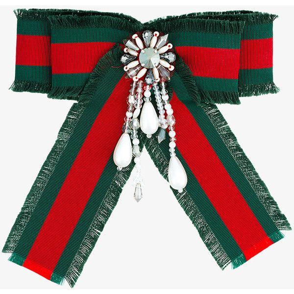 Black Bumble Bee >> Gucci embellished web ribbon brooch (5.182.790 IDR) liked ...