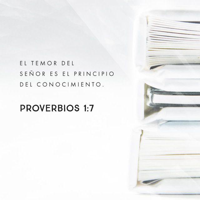 """""""El temor del SEÑOR es la base del verdadero conocimiento, pero los necios desprecian la sabiduría y la disciplina."""" Proverbios 1:7  http://bible.com"""