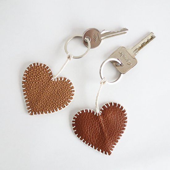 Make a sweet leather key ring for your Valentine.
