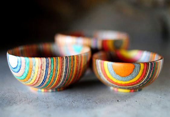Tigelas de eucalipto arco-íris