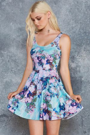 VAN GOGH ROSES SCOOP SKATER DRESS - Weekend Sale