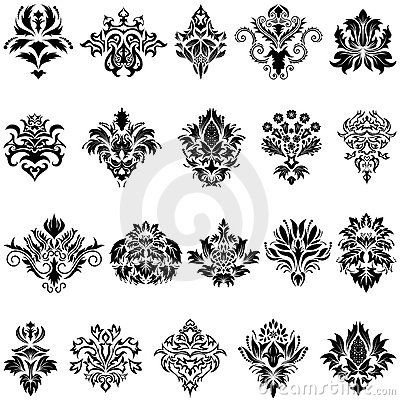 Different damask designs