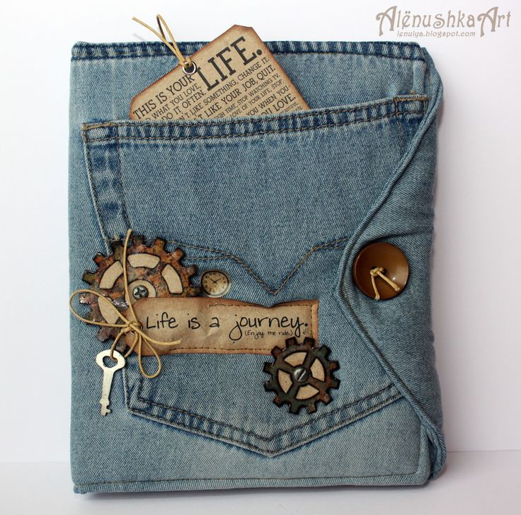 Denim album with the pocket is really cute, this would be a cute bible or book cover! Love!