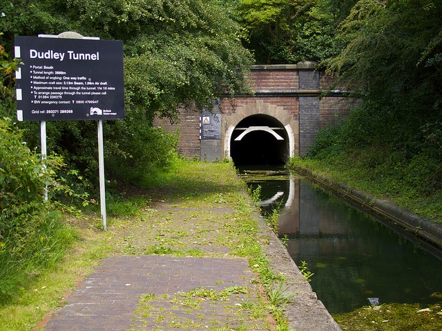 Dudley Tunnel South Portal. All passages through the tunnel MUST be booked in advance with the Dudley Canal Trust on 01384 236275.