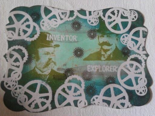 Steampunk stamp set