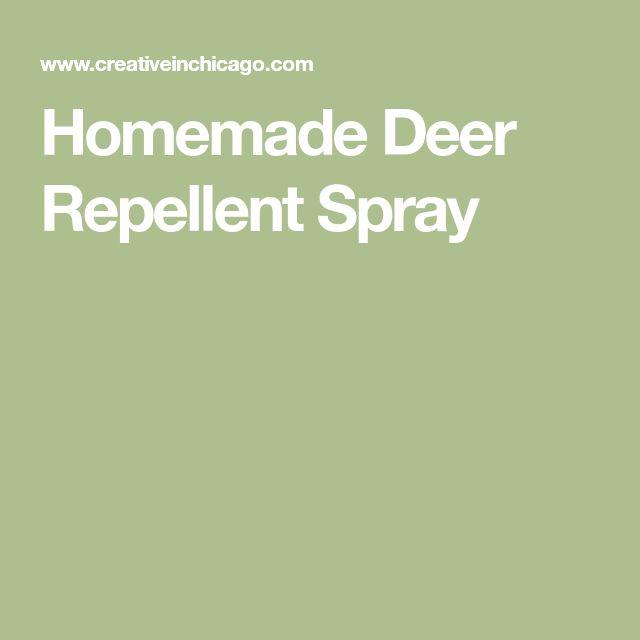 Homemade Deer Repellent Spray