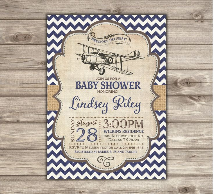 Superb Airplane Baby Shower Invitations Boy Shower Invites NV2127