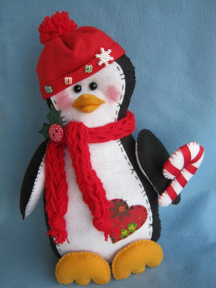 Artesanato De Jornal Porta Retrato ~ Arte e Mimos Artesanato em feltro navidad Pinterest Penguins, Stuffed Toys Patterns and