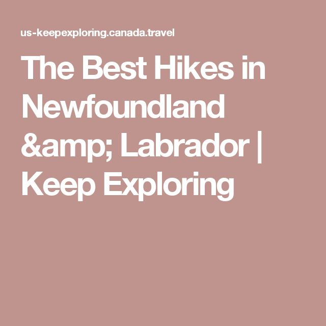 The Best Hikes in Newfoundland & Labrador   Keep Exploring