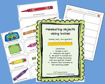 GREAT Measurement freebies...AND a linky with other great measurement freebies.  Love this :)