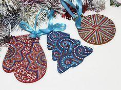 Мастер-класс по точечной росписи новогодних подвесок | Ярмарка Мастеров - ручная работа, handmade