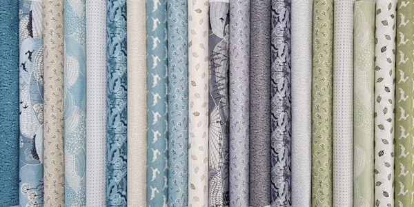 JUST IN:Makower Into the Woods. This collection features hares, deer and swallows frolicking through the rolling hills and woodland. In a calm and serene palette of soft blues and greys, with highlights of green, this collection is perfect for quilts or projects for the home.