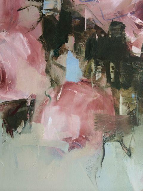 Detail pink Roses - July 2014 - Nicole Pletts - 91x152cm