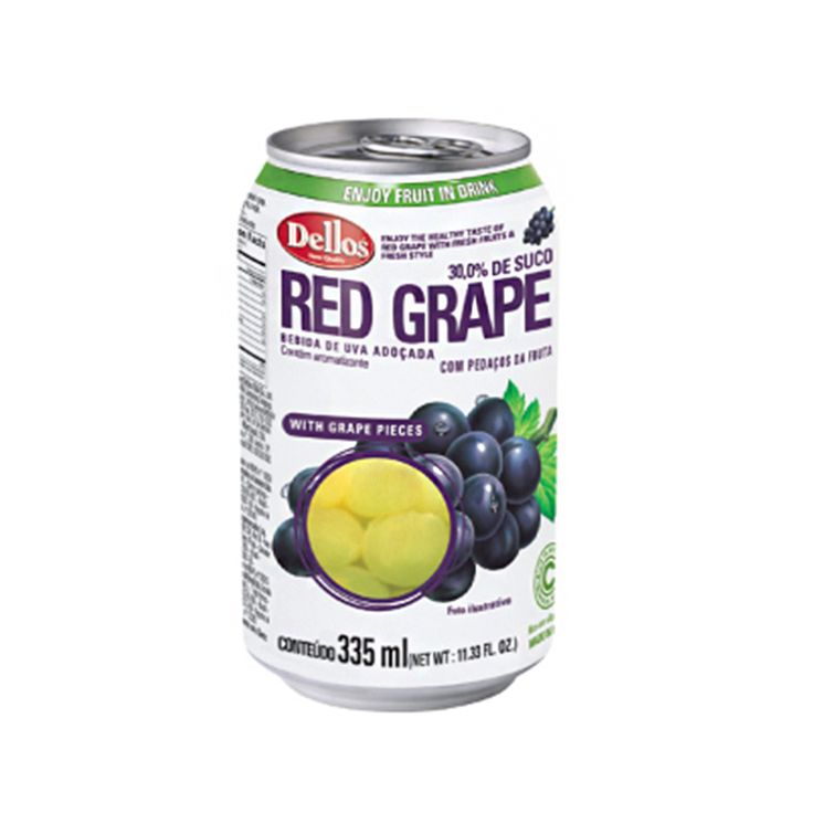 Dellos Multi Pack (Red Grape, White Grape, Peach, Strawberry) Juice 335ml, (Pack of 24)