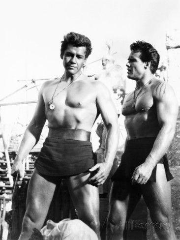Duel of the Titans, (Aka Romolo E Remo), from Left: Gordon Scott, Steve Reeves, 1961 Photo