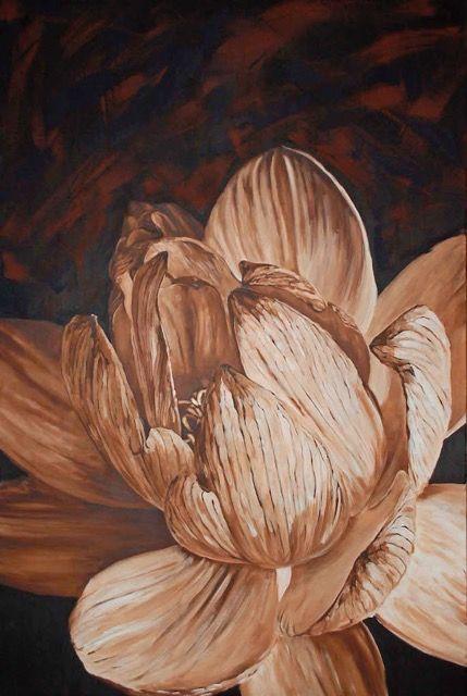Bez tytułu, Joanna Szumska, obraz olejny, 150 x 100 cm, 2012