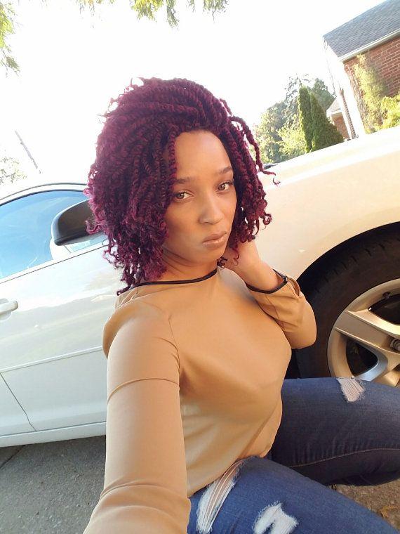 Braided Wig Kinky Twist Diva 1B/Burgandy Sale Ready to Ship