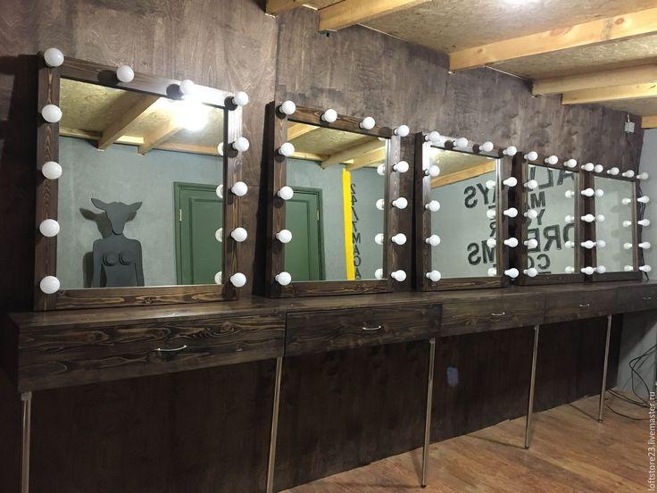 Купить Гримерные зеркала и подвесные столики - коричневый, набор визажиста, набор гримера, столик