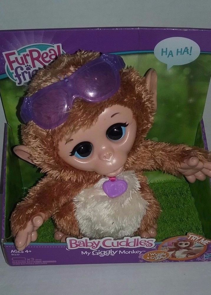 FurReal Friends Baby Cuddles My Giggly Monkey Pet Plush Interactive Toy New #FurRealFriends