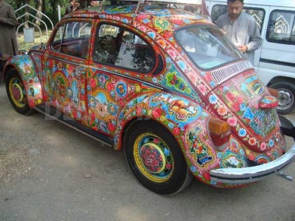 beetle | Islamabad, Pakistan, 02/03/2009. This is a 1974 VW beetle named foxy shehzadi (meaning beetle princes in local language).