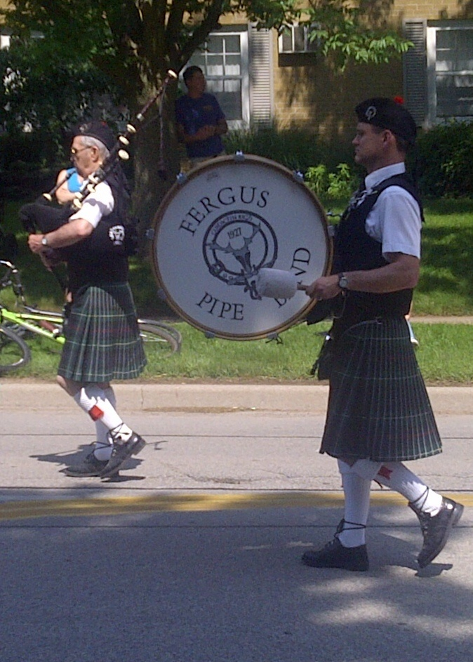 The Fergus, Ontario Pipe Band in the Burlington, Ontario, Sound Of Music Parade June 2013. By Marilyn Belleghem