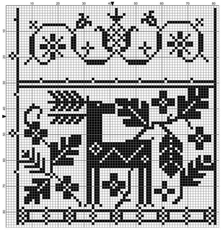 Reindeer Knitting Pattern Chart : Deer Freebie Needlework Freebies Pinterest Reindeer, Stitches and Deer