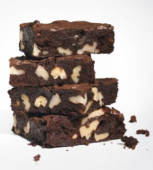Cocoa Brownies with Browned Butter and Walnuts - Bon Appétit