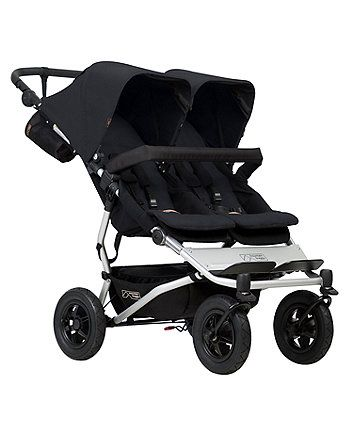 The ultimate ride for siblings or twins, the Mountain Buggy Duet V3 is the most compact, fully featured, all-terrain side-by-side on the market.