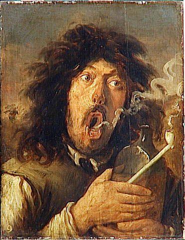 Joos Van Craesbeeck: The Smoker  http://annabregmanportraits.co.uk/unusual-self-portraits/