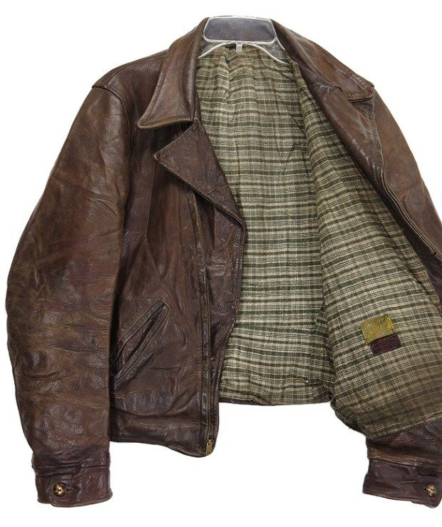Vintage Block Bilt Leather Jacket 1930's interior ...