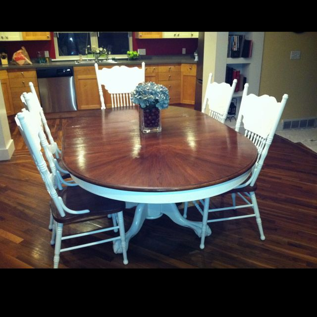 17 best ideas about over chair table on pinterest paint kitchen tables painting kitchen - Refinishing a kitchen table ...