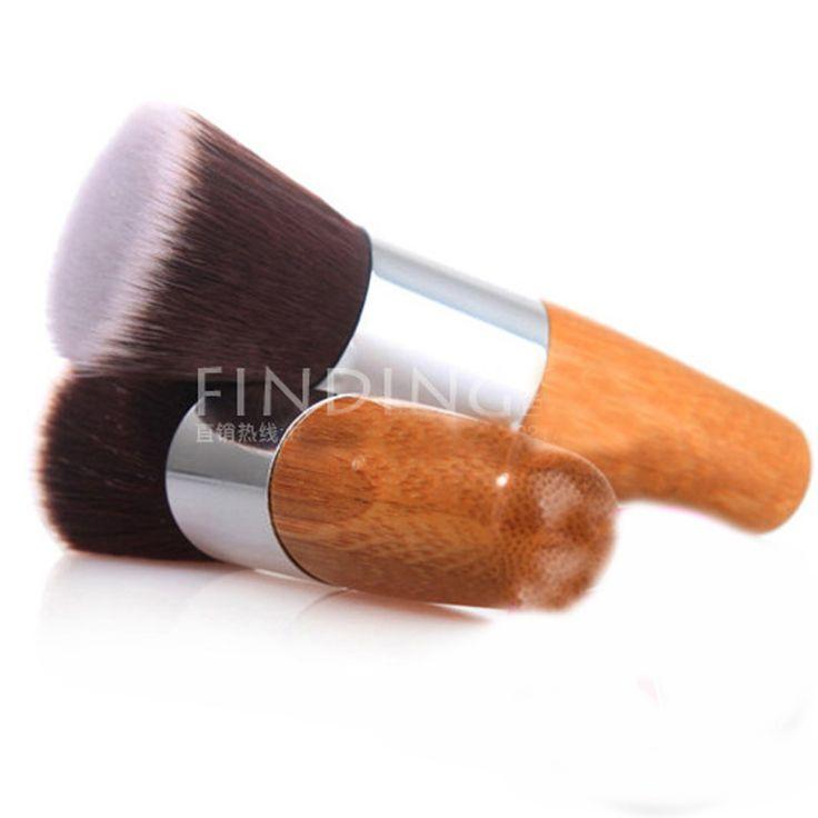 プロフェッショナルメイクブラシフラットトップブラシファンデーションパウダー美容ブラシ化粧品メイクアップbrushestool木製用macメイクブラシ