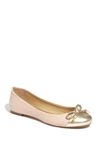 kate spade flats: Colors Combos, Spade Blushes, Fashion Shoes, Gold Flats, Kate Spade Flats, Ballerinas Flats, Pink Flats, New York, Blushes Flats