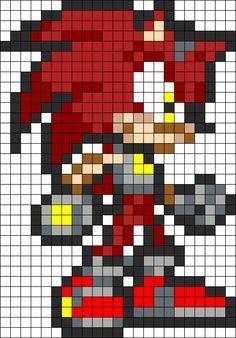 sandylandya@outlook.es Sonic Knuckles The Hedgehog perler bead pattern