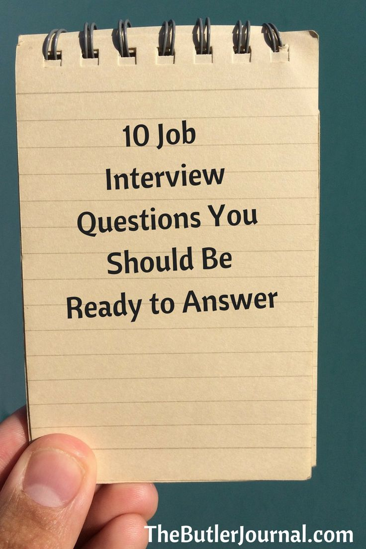 10 job interview questions you should be