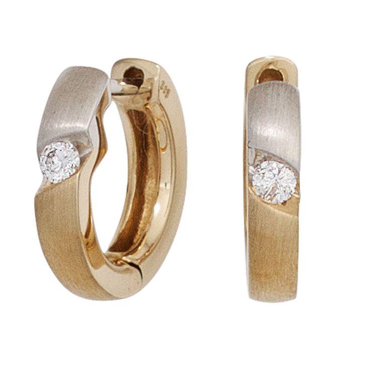 Creolen rund 585 Gold Gelbgold bicolor matt 2 Diamanten Brillanten Ohrringe  https://www.ebay.de/itm/Creolen-rund-585-Gold-Gelbgold-bicolor-matt-2-Diamanten-Brillanten-Ohrringe-/162577922852?refid=store&ssPageName=STORE:accessorize24-de