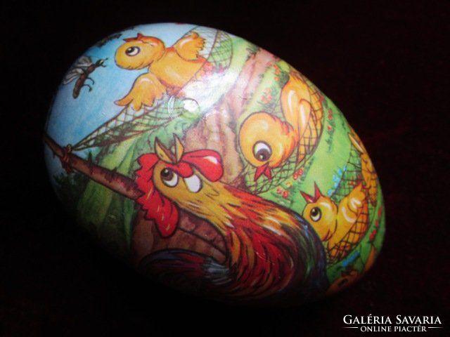 Exkluzív HÚSVÉT tojás papirmasé festett nagy méret