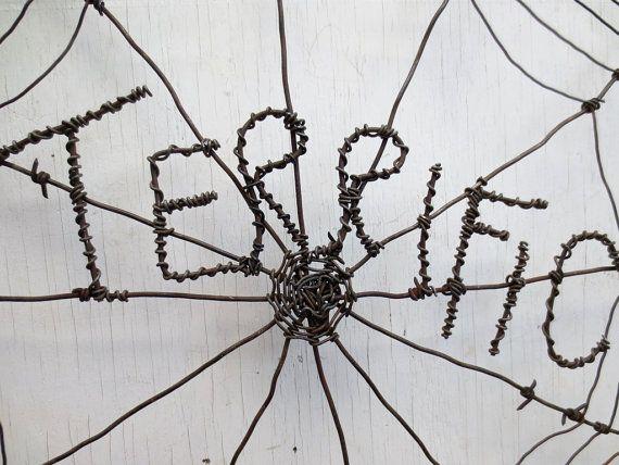 Web de Charlotte buenísimo inspirado tela de araña de alambre